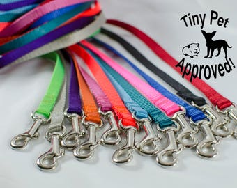 """3/8"""" Cat, Rabbit, Ferret, Guinea Pig, Small Pet, Teacup Dog Leashes - many colors and lengths"""