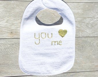 You Luv Me Bib for Baby and Toddler