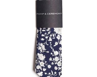 SKINNY TIE Pomp and Ceremony, Men's skinny tie, Liberty of London Summer Blossom