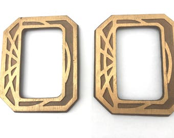 Pair of old Large Brass Label Plates