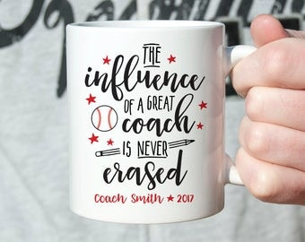 Baseball Coach Gift Baseball Coach Birthday Gift Ideas Coach Gifts Custom Gift for Baseball Coach Mug Coach Coffee Mug End of Year Gift