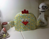 Two slice toaster cover, 2-slice, Chicken toaster cover - turquoise and yellow vines