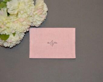 Wedding Tissue Holder, Bridal Tissue Case, Shabby, Romantic, Rustic Wedding Travel Tissue Case , Pocket Tissue Holder