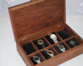 Watch Box, Mens Watch Box-Holds 8