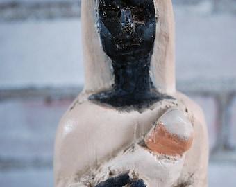 Black Madonna Santo Central American Primitive