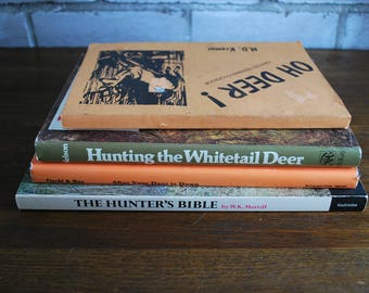 Set of four vintage hunting books