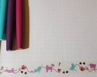 Yarn and Cats 30 in Washi Tape Sample