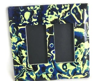 Mod Double Slide Switch Plate Cover Polymer Clay