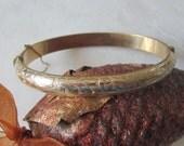 Antique English Yellow Rolled Gold Bangle Bracelet