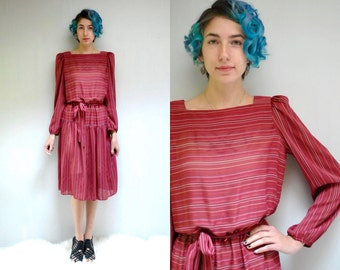 Sheer Dress  //   70s Midi Dress  //  Belted Dress  //  THE LIZZY
