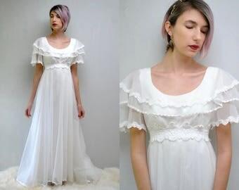 Boho Wedding Dress  //  70s Wedding Dress  //  LE MOUSSE