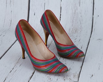 vintage 1960s rainbow heels by Neusteters