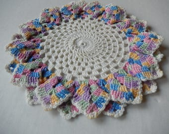 Vintage Doily Romantic Pastel Cottage Style Hand Crochet Kitchen Babys Room Home Decor