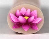 Raw Polymer Clay Pink Water lily Cane