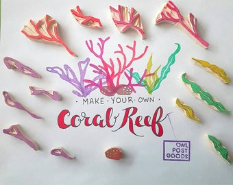 Coral Reef Set - Set of 14 pieces - ocean, sea, colourful