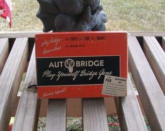 Vintage Auto Bridge Play Yourself Bridge Game 1959
