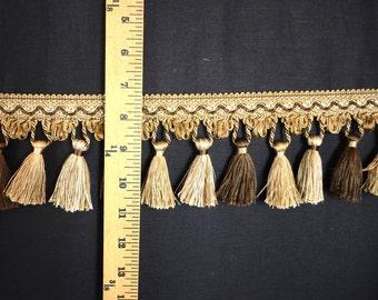 ART 1398 9551 Brown Taupe Tassel Trim Fringe