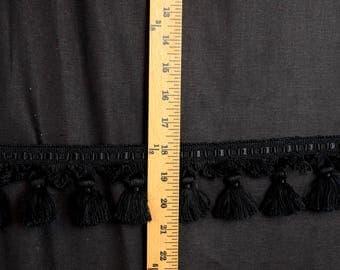 EN100 10 Black Tassel Trim Fringe