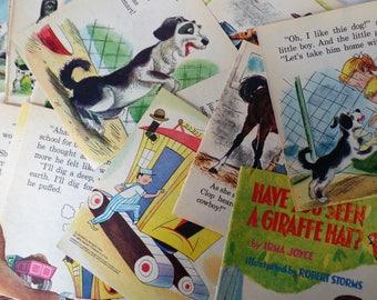 Vintage Illustrations, Vintage book pages, Vintage Children's Book Pages, Vintage Kid's Book Pages Digger Dan, Friskar, Clip Clop