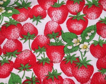 Strawberry Print Cotton Quilting Material