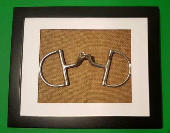 Custom Horse Bit In Burlap Frame From Therepurposedrider