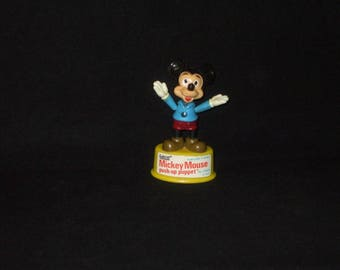 Vintage Gabriel Walt Disney Mickey Mouse Push Puppet Toy