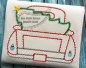 Christmas tree bean stitch