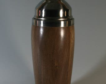 Walnut Cocktail Shaker with stainless steel liner