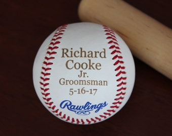 Jr. Groomsman Baseball, Jr Groomsman Gift, Personalized Baseball, Wedding Gift, Groomsman Gift