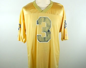 Gold Notre Dame Jersey by Champion // Used But Not Abused // Men's Large