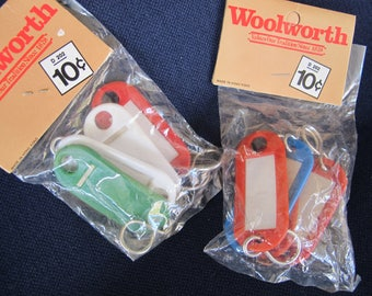 2 packages KEY TAGS Woolworth NIP labels