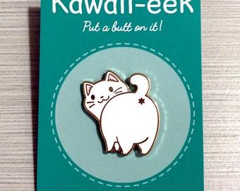 White Cat Hard Enamel Pin