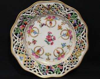Schumann DRESDEN Pierced Porcelain Cabinet Plate (669-2a)