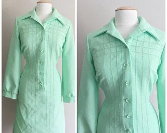 Mint Green Dress by Jeanne Durrell Dallas // Long Sleeved Mint Dress