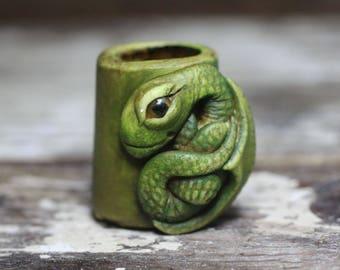 Dragon dreadlock bead 10mm