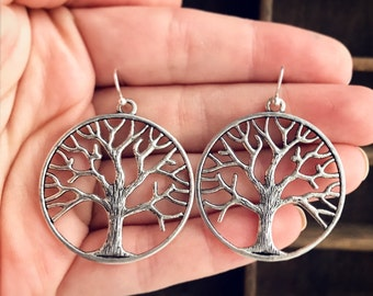 Tree of Life Earrings / Tree Lover Gift Summer Boho Festival Style Accessories Renaissance Faire Costume Outdoor Wedding Shower Bridesmaids