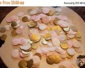 """PARTY SALE Champagne Blush Tissue Confetti 3/4"""" Circles"""