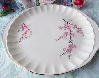 Vintage Serving Platter Peach Blossom Bolero WS George
