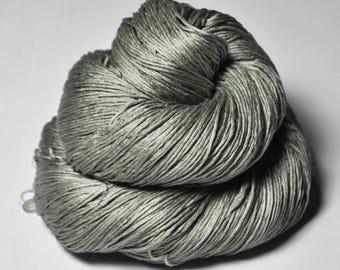 Rotten olive OOAK - Silk Fingering Yarn - knotty skein