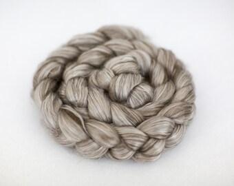 Tibetan Yak/Cultivated Silk Roving - 4 oz