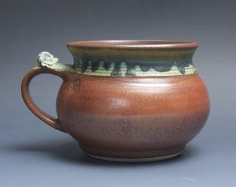 Handmade pottery soup mug ceramic chili mug cereal ice cream bowl 24 plus oz 3796