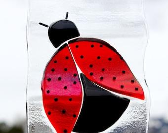 Fused Glass Ladybug Windchime or Suncatcher