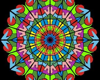 Red Eyed Bug - Digital Mandala Print