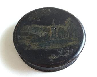 Antique Georgian Paper Machie Snuff Box