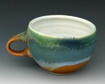STONEWARE CUP #3 - Ceramic Coffee Cup - Large Cup - Big Cup - Ceramic Tea Cup - Cappuccino Cup - Soup Mug - Studio Pottery