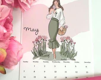 May Finds Digital Desk Calendar Art - May Calendar Planner Page  -Planner Pages May Heather Stillufsen  Calendars