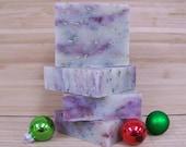 Mistletoe Soap Holiday Cold Processed Soap Natural Vegan Soap Bar Christmas Soap