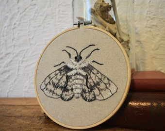 Moth Embroidery Hoop