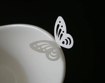 60 wafer paper edible Butterflies, Elegant Large Lacey Butterflies in Gold, Silver or Pearl colors