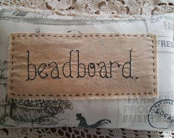 Prim Stitchery beadboard Farmhouse Pillow ~OFG